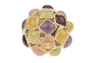 Chanel Multicolor Gripoix Mosaic Dome Ring