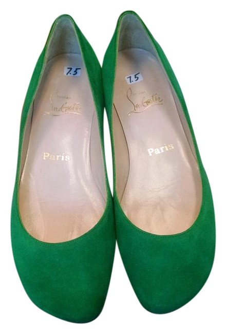 Item - Green Suede Flats Size US 7.5 Narrow (Aa, N)
