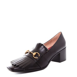 Gucci Leather Vintage Heel black Mules