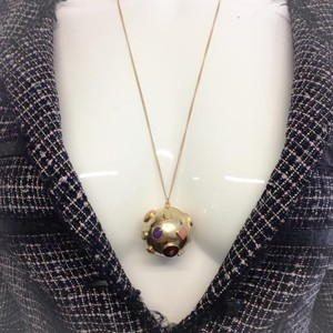 Chanel Gold-Toned Sphere Pendant