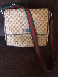 Gucci Brown Gucci Monogram Canvas Messenger Bag