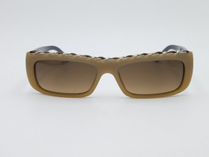 Chanel Chanel Brown Leather Chain Square Sunglasses 5130-Q c.1011/13 54