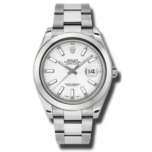 Rolex Rolex New Style Pre Owned Datejust II Steel White Dial 41mm 116300WSO