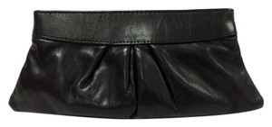 Lauren Merkin Eve Leather Small Black Clutch