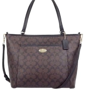 Coach Crossbody Nwt Tote in Brown / Black