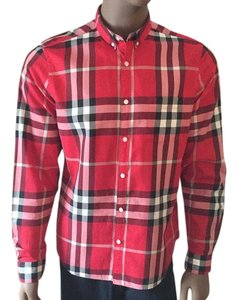 Burberry Brit Button Down Shirt Red/Black