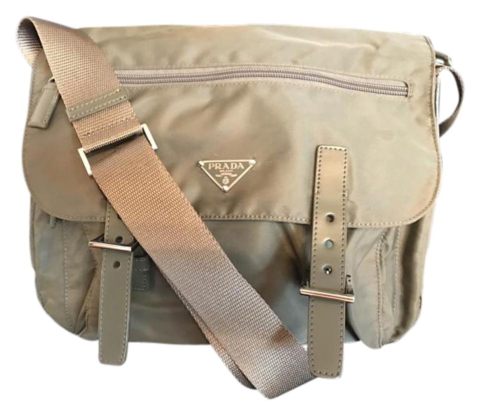 1bb6a28ac7a7 Prada Messenger In Military Green/Olive Nylon Cross Body Bag - Tradesy