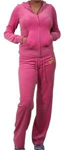 Juicy Couture JUICY COUTURE TRACKSUIT VELOUR WOMEN JACKET PANTS HOODIE SET S XL