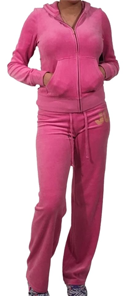 Juicy Couture Pink Tracksuit Velour Women Jacket Pants Hoodie Set S  Activewear Sportswear 2f1fa919f616