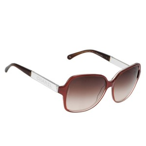 Chanel Square Eye Burnt Orange Sunglasses