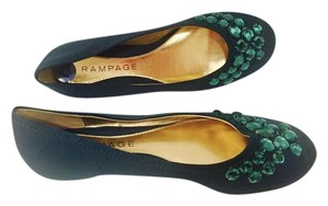 Rampage Jeweled Womens Green Flats