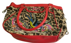 Ed Hardy Leather Tote Shoulder Bag
