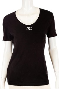 Chanel Cotton Monogram Top Black/White