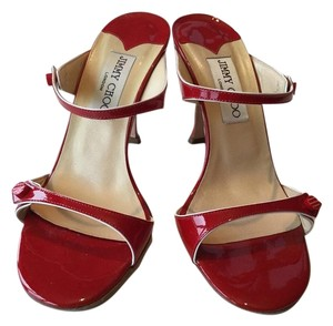 Jimmy Choo Patent Red Sandals