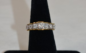 1ct. Total Genuine Round Diamonds 10k Yellow Gold Size 7 On Sale