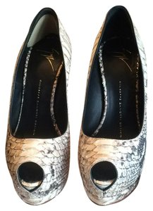 Giuseppe Zanotti Silver black and white Pumps
