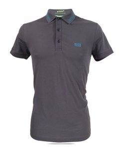 Hugo Boss Logo Cotton T Shirt Dark Grey