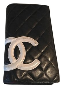Chanel Chanel Cambon Black Leather Wallet