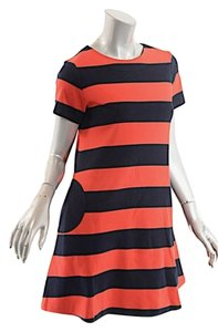 Lisa Perry short dress Red & Black Wool Knit Rugby on Tradesy