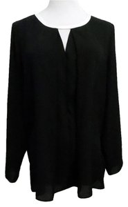 Vince Camuto Black Top Black, White Trim