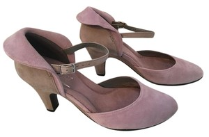 Aerosoles Mary Jane Ankle Strap Grey and lavender Pumps