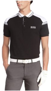 Hugo Boss Logo Cotton T Shirt Black