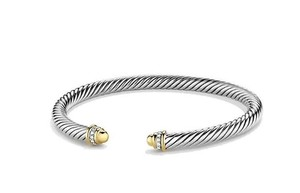 David Yurman Cable Classics Bracelet with Diamonds and 18K Gold, 5mm