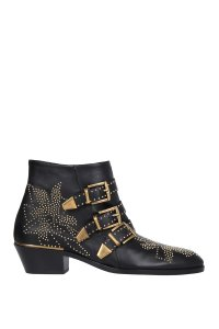 Chlo Chloe Leather Ankle Black Boots