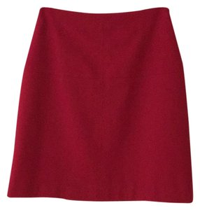 Ann Taylor Skirt Real Red