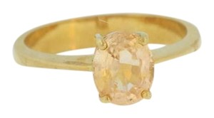 Other Vintage Oval Cut Citrine- 18k Yellow Jewelry