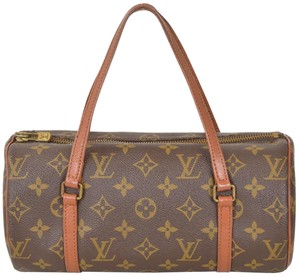 Louis Vuitton Monogram Papillon Barrel Satchel in Brown
