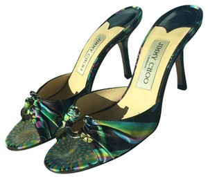 Jimmy Choo Black Pink Blue Green pattern Formal