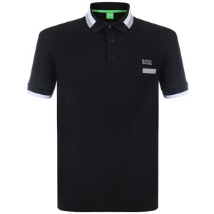 Hugo Boss Logo Cotton Button Down Shirt Black