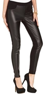Tinseltown Faux Leather Pleather Fake Vegan Stretchy Pants Stretch Small Skinny Jeans Edgy Goth New With Tags Pencil Pants Slim black Leggings