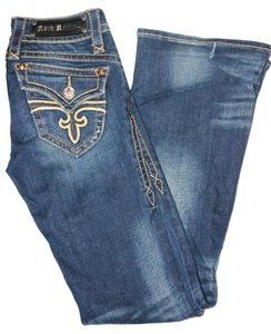 Rock Revival Denim Dark Rinse Boot Cut Jeans-Dark Rinse