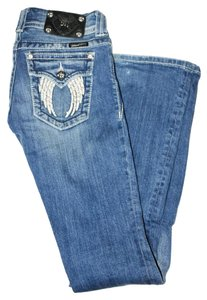 Miss Me Denim Wash Boot Cut Jeans-Medium Wash
