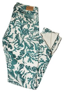 Ralph Lauren Denim And Supply Floral Skinny Zippers Skinny Jeans-Coated