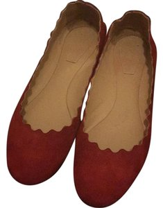 Chloé Red Flats
