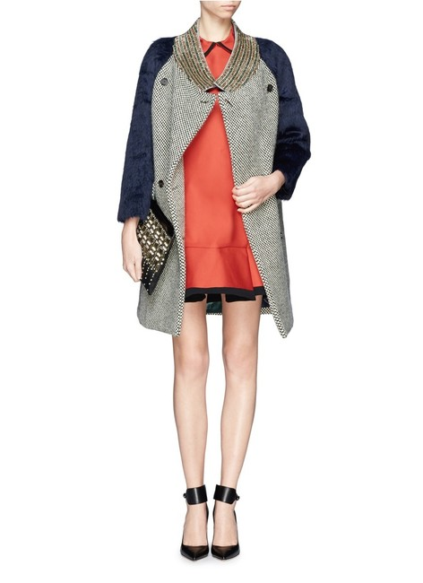 Item - Multicolor Women's Collection Tweed with Jeweled Collar New Coat Size 6 (S)