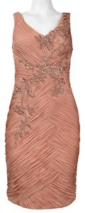Sue Wong Sheath Embellished Beaded Dress
