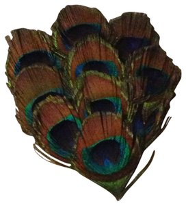 Handmade Peacock Feather Clip