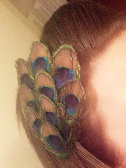 Handmade Peacock Feather Clip Image 3