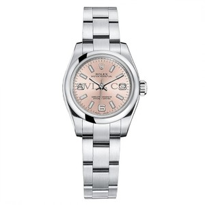 Rolex Rolex Oyster Perpetual 26 Stainless Steel Watch Pink Dial 176200