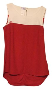 Akris Top Red Ivory
