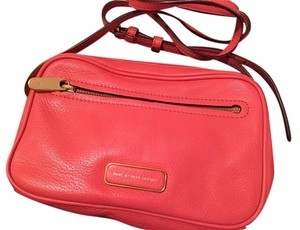 Marc by Marc Jacobs Leather Red Pink Handbag Cross Body Bag