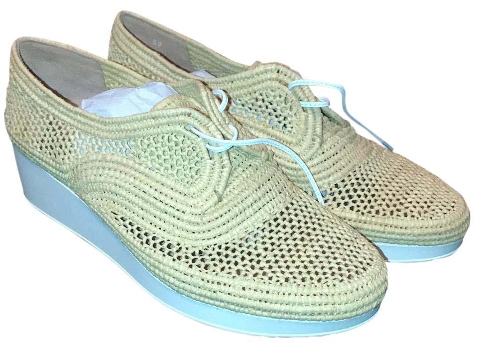 Robert Clergerie Natural Dbl Paille Naturelle Dbl Natural Poudre Wedges fe52ee