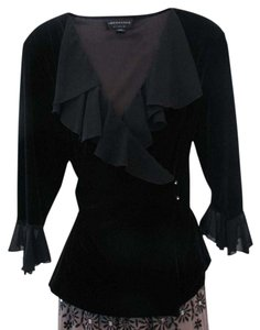 Connected Women Top Black Velvet