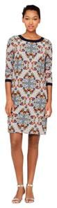 J.Crew short dress Multicolor Silk Floral Shift on Tradesy