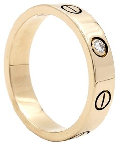 Cartier Authentic Cartier Diamond Pink Gold Love Ring