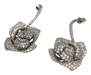 Other Stunning Flower Dangle/Drop Earrings Stud/Post Sparkle Zirconia